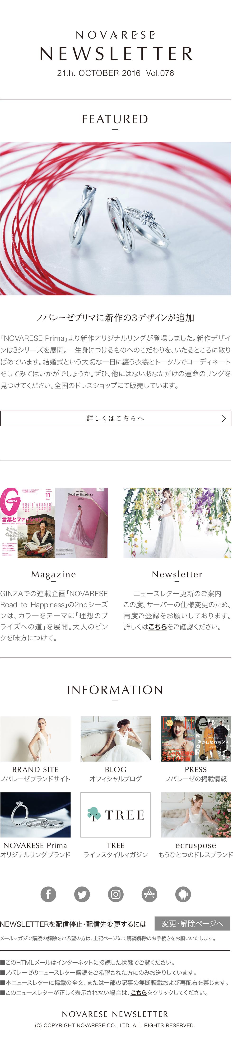 NOVARESE NEWSLETTER Vol.075